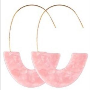 Jewelry - Pretty in Pink! Lightweight, Acrylic Earrings.